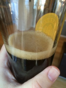 This is not really a head from carbonation, as there is none yet. It's just from splashing and pouring (and Star San foam?)