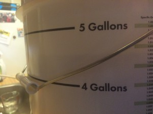 about 4.5 gallons