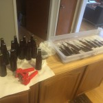 bottling assembly line. Somehow it goes from right to left.