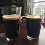 Taste test against Samuel Smith Taddy Porter. The SS Taddy is on the left. You can see how much nicer its head is.