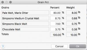 Grain percentages