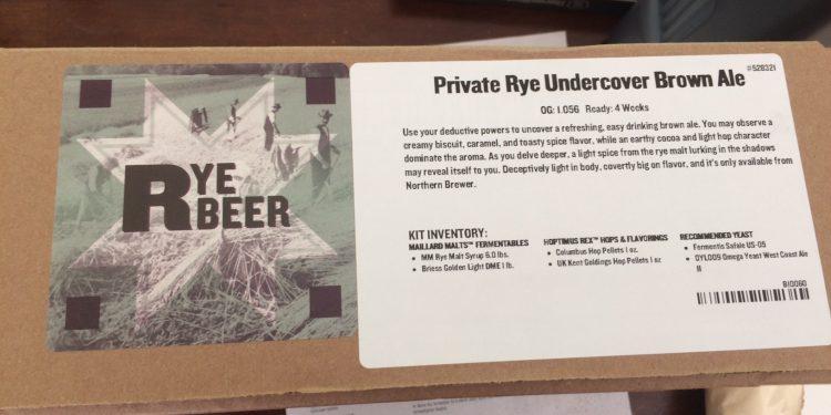 Brew #18 – Rye Brown Ale
